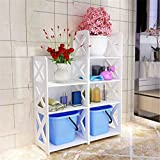 XAMD XAMD Badezimmer Regal Bodenstehende Toilette Landung wasserdicht Lagerregal Badezimmer Setzen Sie den Waschbeckenrahmen (Color : B)
