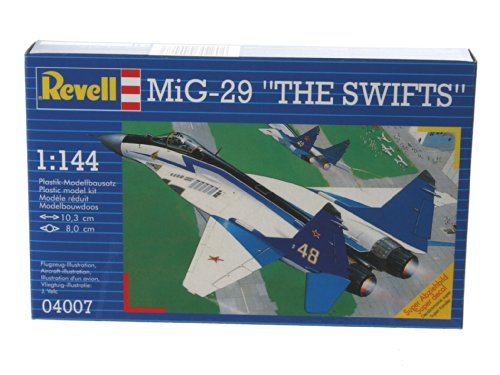 Revell Modellbausatz Flugzeug 1:144 - MiG-29 The Swifts im Maßstab 1:144, Level 3, originalgetreue Nachbildung mit vielen Details, 04007