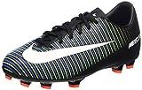 Nike Mercurial Victory VI Fg, Scarpe da Calcio Unisex-Bambini, Multicolore (Black/Wht-Elctrc Grn-prmnt Bl), 38.5 EU