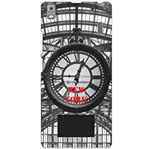 Printland Time Clock Phone Cover For Lenovo A7000 PA030023IN