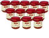 Confezione Risparmio 12 pz di Patè di pomodoro ciliegino Casamorana da 200 g ottimo spalmato su pane bruschette o tartine Perfetto per un gusto uniche per gran varietà di ricette patè di ciliegino secco Senza conservanti e additivi