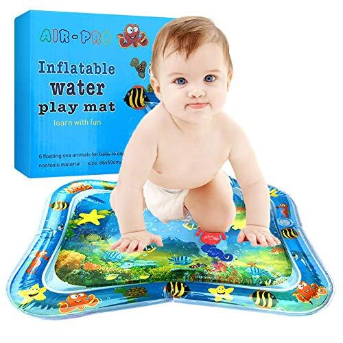 XUNKE Wassermatte Baby, Wassermatte Baby mit beweglichen Schwimmelementen von Spielzeug Das Wachstum von Kindern Stimulieren Aufblasbare und Wasserfüllung Wasserpark des Frühen Kindes