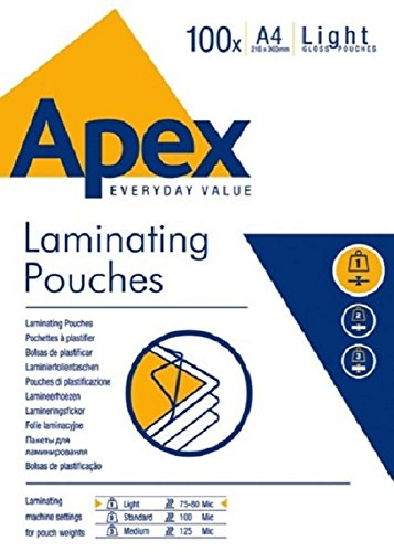 fellowes-apex-laminating-pouch-a4-light-duty-clear-pack-of-100