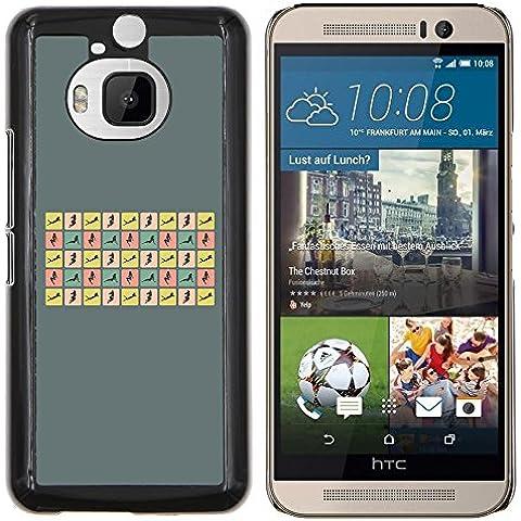 Copertura di plastica Shell Custodia protettiva || HTC One M9+ M9 Plus || Donna sexy pone Curvy Corpo Hour Glass @XPTECH