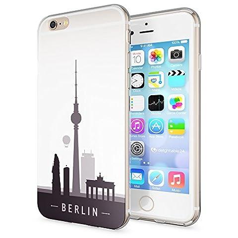 Apple iPhone 6 6S Hülle Handyhülle von NICA, Slim Silikon Case Cover Crystal Schutzhülle Dünn Durchsichtig, Etui Handy-Tasche Backcover Transparent Bumper für i-Phone 6 6S, Designs:Berlin Skyline