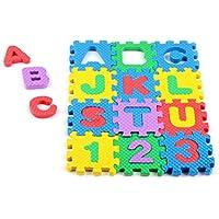 Hunpta Mini 36 piezas de goma EVA Puzzle niños juguete alfabeto letras numérico alfombra de espuma educación juguetes