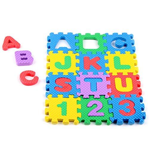 hunpta Mini Stricknadel EVA Puzzle Kid Spielzeug Alphabet Buchstaben Ziffer Schaumstoff Matte Bildung Toys, a, 1