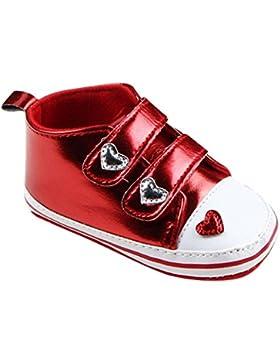 Babyschuhe Longra Baby Mädchen weiche alleinige Krippe schuhe Turnschuh Sneaker Kleinkind lauflernschuhe krabbelschuhe...