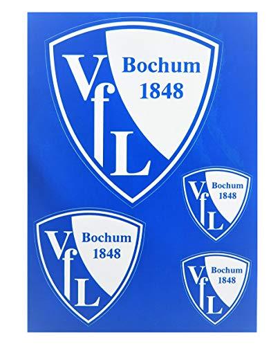 VfL Bochum 1848 Aufkleberkarte mit 4 Aufklebern Leuchteffekt im Dunkeln Sticker Fan-Artikel Geschenk-Idee Schulanfang
