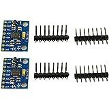 COM de Four® GY de 521MPU–60503ejes giroscópicos y 3ejes Acelerómetro Módulo para Arduino (2unidades)