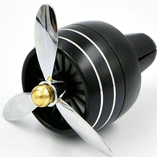 zantec Auto Parfüm Aromatherapie Einzigartige Fashion Aluminium mit LED-Licht schwarz (Schwarzer Tee Ausgestattet)