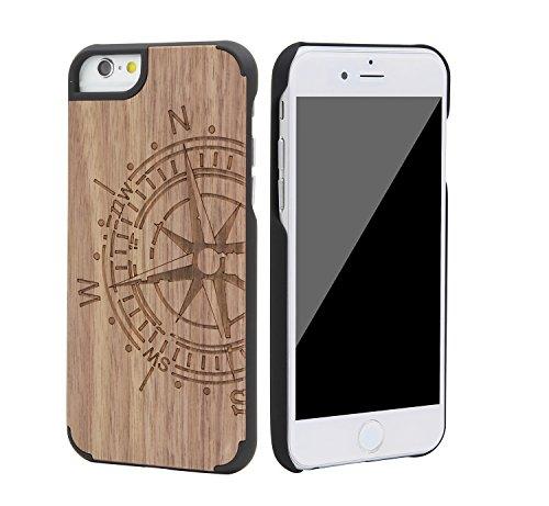 """eimo Apple iPhone 6 4.7"""" Original Cover Case bois avec bords noirs et d'absorption des chocs Couche pour iPhone 6 4.7 pouces --16 14"""