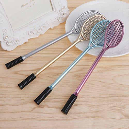 FXCO Mini Badminton Schläger Schleim Form Kristallboden Kit Spielen mit Schleim Gel Stift Kid Spielzeug
