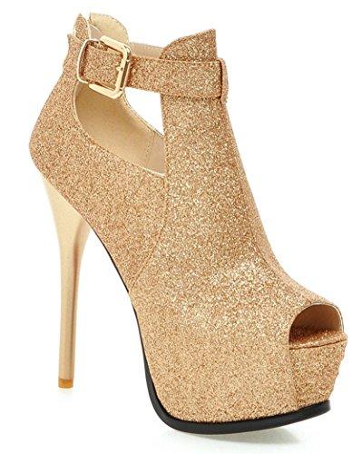 YE Damen Open Peep Toe 13 cm Heels High Heel Stiletto