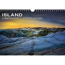 Island - Unberührte Landschaften (Wandkalender 2019 DIN A4 quer): Jeden Monat ein Stück Island - Die schönsten Wasserfälle und größten Gletscher Europas (Monatskalender, 14 Seiten ) (CALVENDO Natur)