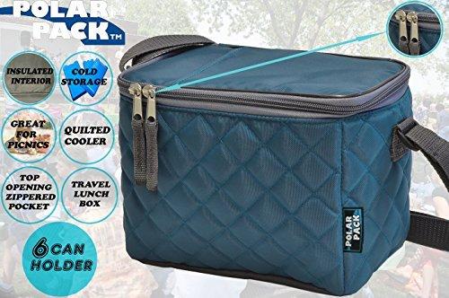 3245c0170d5d Polar Pack Quilted 6 lattine maniglia lunch box Carry Bag Cooler morbido da  esterni portatile isolato picnic borsa da viaggio per eventi campeggio ...
