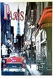 MI RINCON Cuadro de Madera Vintage Motivo Paris Hotel para Decorar la Pared del hogar, Tienda, Garaje, Bar, Pub