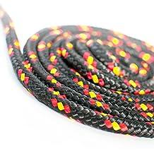 10m POLYPROPYLENSEIL 10mm SCHWARZ Polypropylen Seil Tauwerk PP Flechtleine Textilseil Reepschnur Leine Schnur Festmacher Rope Kunststoffseil Polyseil geflochten