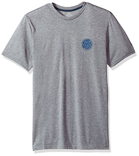 Rip Curl Herren Mini Wettie Tech Tee T-Shirt, Athletic Charcoal Heather, Klein -