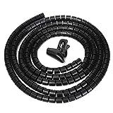 TianranRT Flexibel Spirale Rohr Kabel Wickler Kabel Organizer Draht Wickel Schnur Protector 10mm (Schwarz)