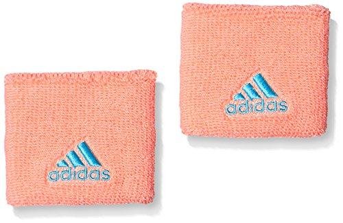 adidas Schweißbänder Tennis Wristband Short neonorange, One Size - Adidas Bekleidung Frauen Tennis