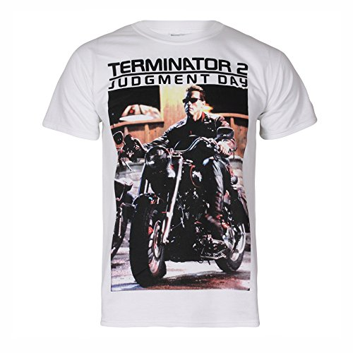 Terminator 2 Judgment Day T2 on Motorcycle T-shirt