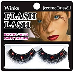 Jerome Russell E Winks Flash Lash, Red And Gold Daisies