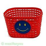 Kinderfahrrad Korb Kunststoff für vorne/hinten 4 Farben Fahrradkorb - 01170319 (Rot)