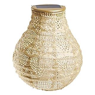Allsop Home & Garden Soji Stella Wave Bulb Shaped Lantern, Pearl