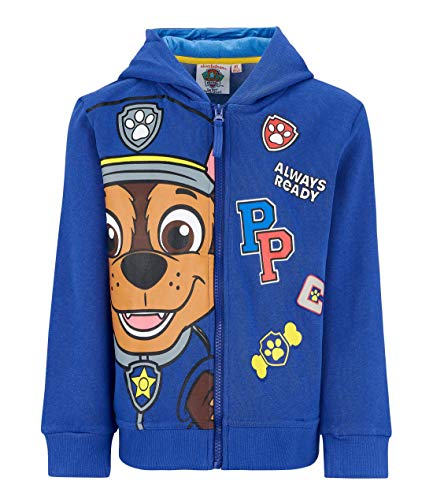 Paw Patrol Sweatjacke mit Kapuze blau (98) (Jacke Kinder Kostüm)