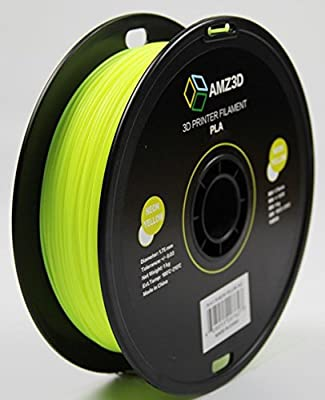 1.75mm Neon Yellow PLA 3D Printer Filament - 1kg Spool (2.2 lbs) - Dimensional Accuracy +/- 0.03mm