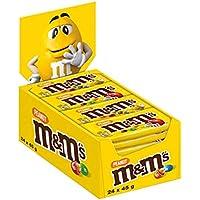 M&M'S | Peanut | Schokolinsen mit Erdnusskern | 24 Packungen (24 x 45 g)