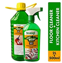 Herbal Strategi Floor Cleaner and Disinfectent 2 Litres, Kitchen Cleaner Spray 500ml (Pack of 2)