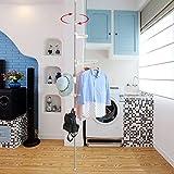 Drying racks Lifting Teleskop-Einzelstab Kleiderbügel Indoor Indoors Kleiderbügel Einfache Kleiderstange