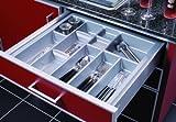 Besteckeinsatz Linea incl. 1 Trennstecker für 60cm Schublade Kunststoff genarbt