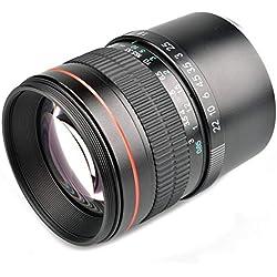 WOSOSYEYO 85mm F1.8 Moyen Portrait Téléobjectif Full Frame E Monture d'objectif pour Sony A9 A7R A7S A7 NEX-7 NEX-6 NEX-5 A6500 A6300 A6000 (Noir)