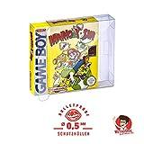 5 Klarsicht Schutzhüllen GAME BOY CLASSIC OVP - 0,5MM - ARMOURED - Game Boy OVP - Spiele Originalverpackung Passgenau Glasklar Panzerglasoptik -