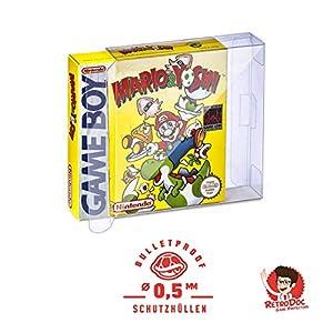 10 Klarsicht Schutzhüllen GAME BOY CLASSIC OVP – 0,5MM – ARMOURED – Game Boy OVP – Spiele Originalverpackung Passgenau Glasklar Panzerglasoptik