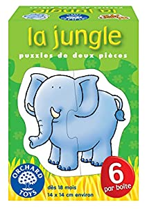 Orchard Toys-Puzzles de Animales de la Selva-2Piezas, 160
