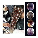wildlead Dye Hair Tattoo Tool, 1Stück-Druck Kunststoff DIY Haar Farbe der Farbe Friseur Werkzeug-Siegel Tinte Innensohle für das Haar