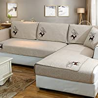 Sofá seccional fundas,Fundas de toalla de sofá,Ropa de algodón protector de sofá antideslizante decorativo sofá cubiertas de tiro fija para funda de cojín de la sala de estar-B 110x210cm(43x83inch)