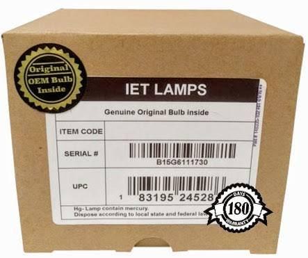Lampada di ricambio originale OEM per proiettore Canon REALIS SX80 Mark II D - IET lampade con 1 anno di garanzia (Power by Ushio)