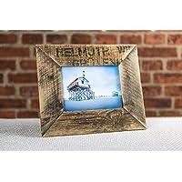Bilderrahmen Altholz 13x18 cm aus Holz von alter Obstkiste/Apfelkiste handgemacht. Geschenk für Hochzeit, Taufe, Kommunion, Geburtstag, Weihnachten, Konfirmation, Muttertag etc.