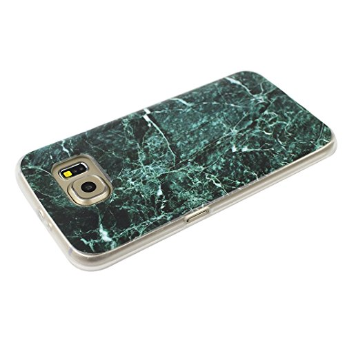 Handyhülle Galaxy S6 Marmor, Asnlove Silkon Galaxy S6 G920 Marble Hülle Silicone TPU mit IMD Schale Case Cover Tasche Schutzhülle für Samsung Galaxy S6 G920F, Aquamarin Color-12