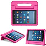 MoKo Hülle für All-New Amazon Fire HD 8 Tablet (7th & 8th Generation – 2017 & 2018 Modell) - Superleicht Eva Kids Shock Proof Cover Stoßfest Kindgerechte Schutzhülle, Magenta