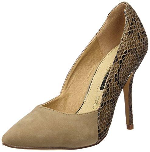 Maria Mare 2016 I Basic Calzado Señora, Chaussures à Talon avec Bout Fermé Femme PEACH TAUPE / SERPIENTE TAUPE