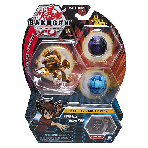 BAKUGAN- Starter Pack Aurelus Howlkor, (Bizak 61924426)