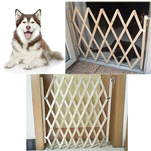 DyNamic Falten Hunde-Torsicherheit Zaun Schutz Holztür Welpe Pet Barrier Sicherheit Zaun - S