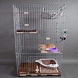 WJZgj 3 Grande Cage de Chat d'animal familier de...