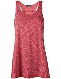 JL&LJ Débardeur Et Femme Top de Sport Gilet Femme Grande Taille T-Shirt Femme Élégant sans Manche Chemise Fashion Ete Veste Tank Yoga Fitness Elastic Vest